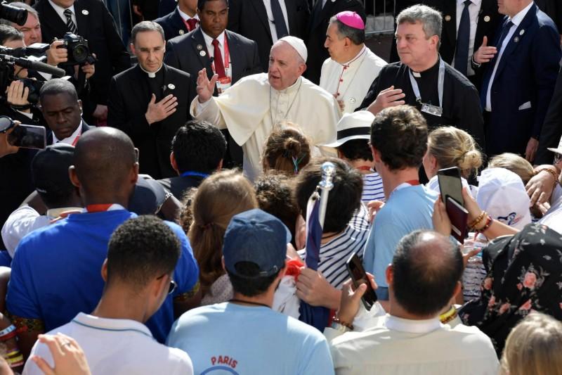 Jeunes français aux JMJ de Panama © Vatican Media