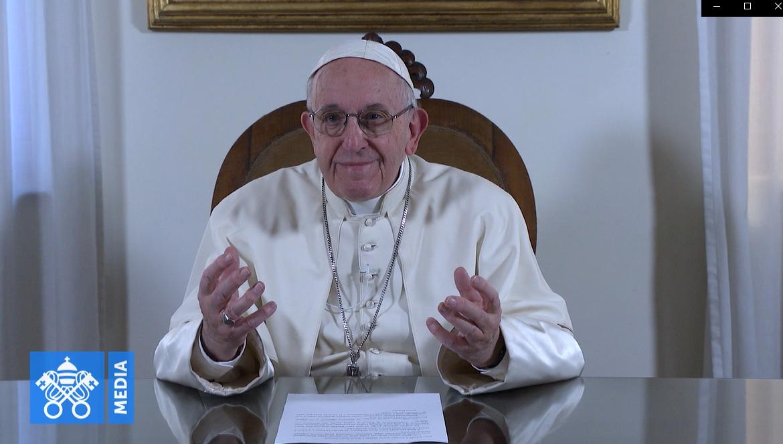 Message vidéo à l'Eglise copte orthodoxe, capture Vatican Media