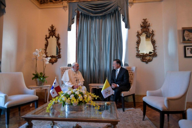 Président Varela du Panama © Vatican Media