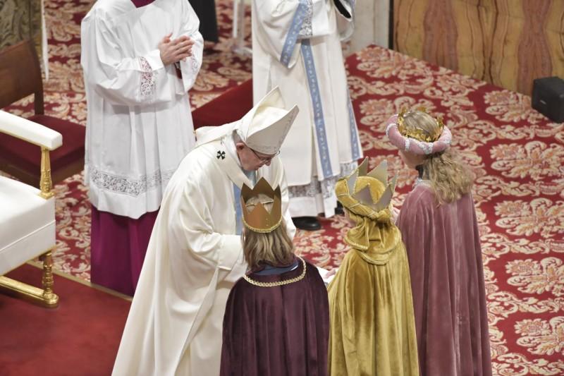 Rois mages, messe du 1er janvier 2019 © Vatican Media