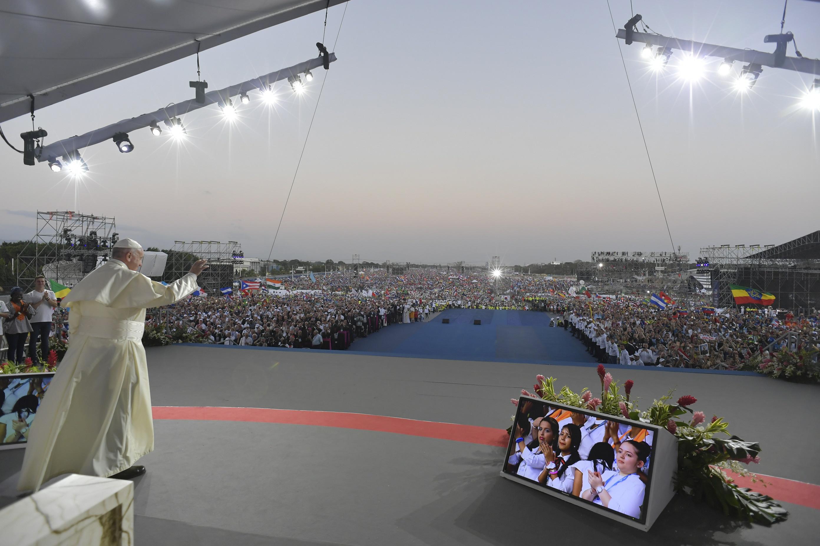 Veillée de Panama2019 © Vatican Media