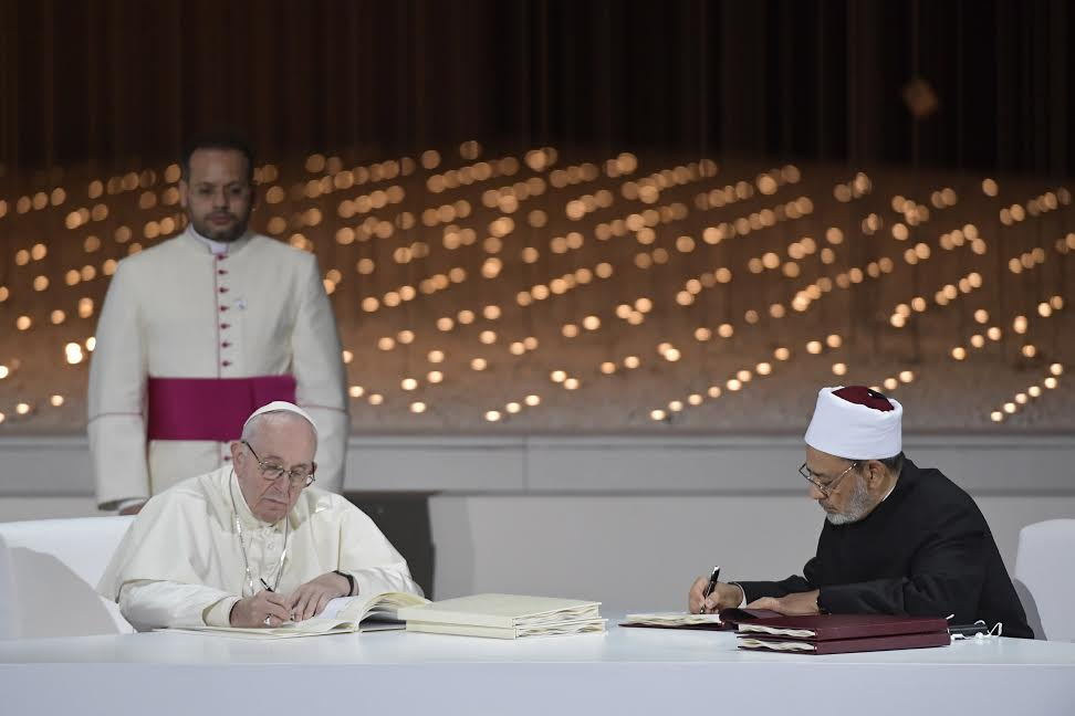 Déclaration d'Abou Dhabi sur la fraternité humaine © Vatican Media