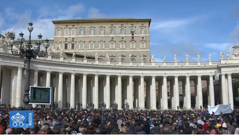 Angélus du 10 février 2019, capture Vatican Media