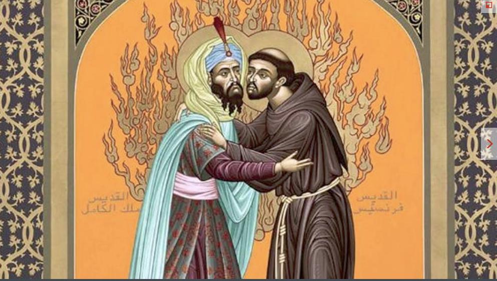 Icône de la rencontre du sultan Al-Malik et de François d'Assise @ Vatican Media