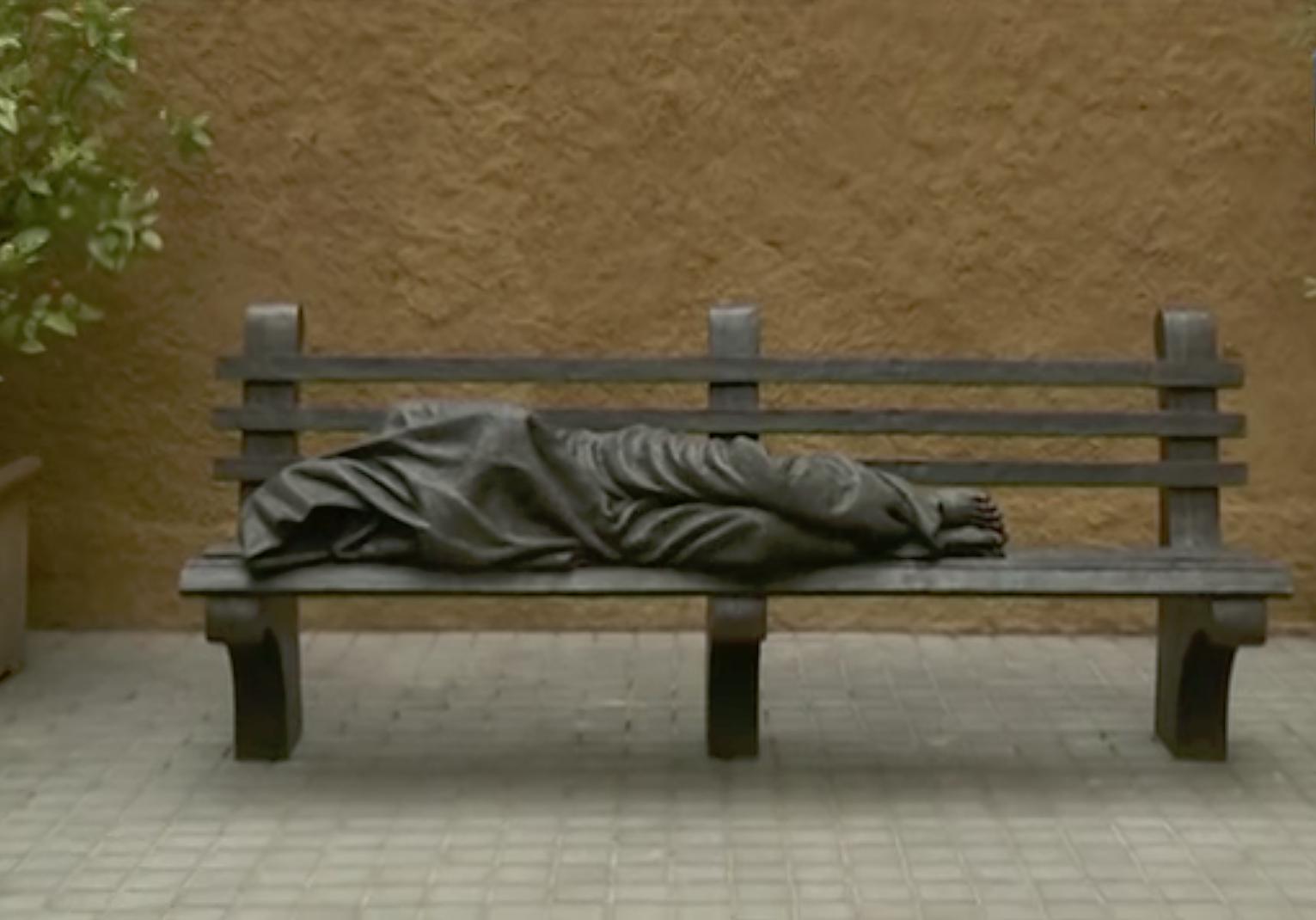 Jésus sans-abri, par Timothy Schmalz @ TV2000