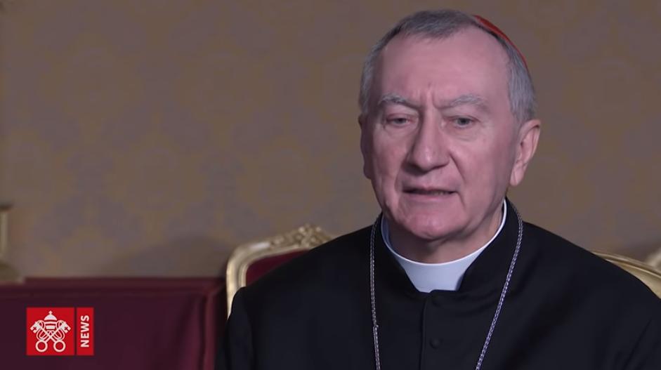 ITW du cardinal Parolin, capture Vatican News