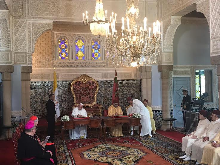 Signature de l'Appel pour Jérusalem © Vatican Media