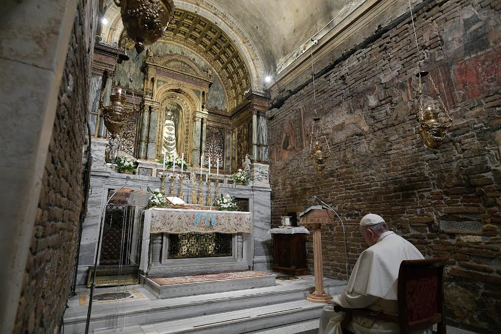 Sainte Maison de Lorette 25 mars 2019 © Vatican Media
