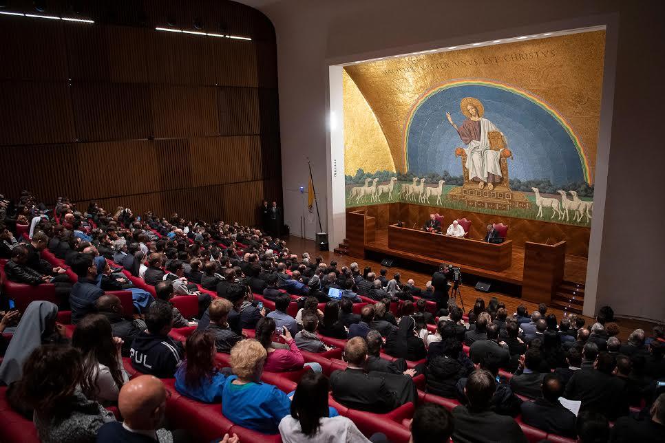 Visite à l'Université du Latran 26 mars 2019 © Vatican Media