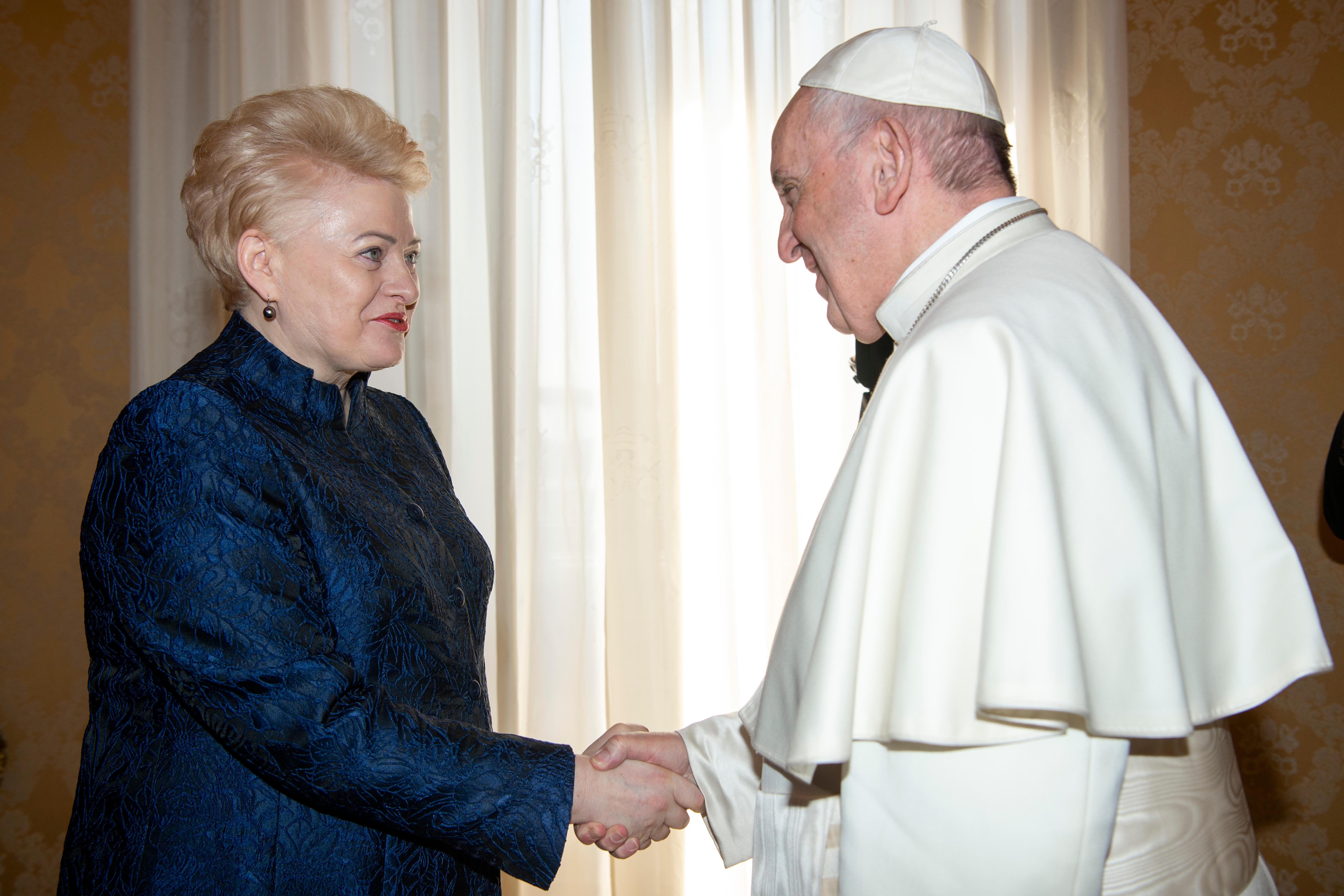 Dalia Grybauskaitė, présidente de la Lituanie © Vatican Media
