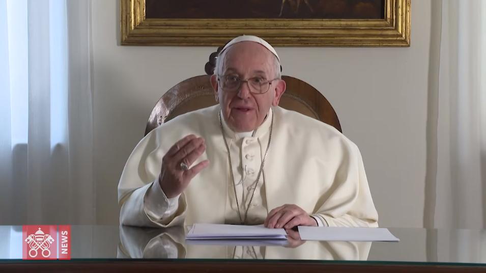 Message vidéo du pape au Maroc, capture @ Vatican Media