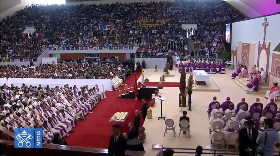 Messe à Rabat, Maroc, capture Vatican Media