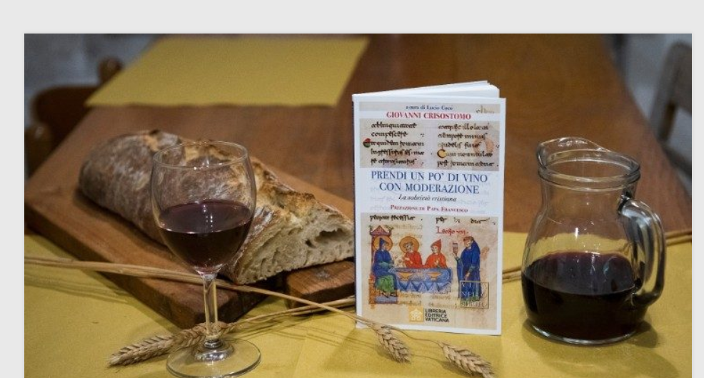 Prends un peu de vin avec modération,ouvrage sur la sobriété © Vatican News