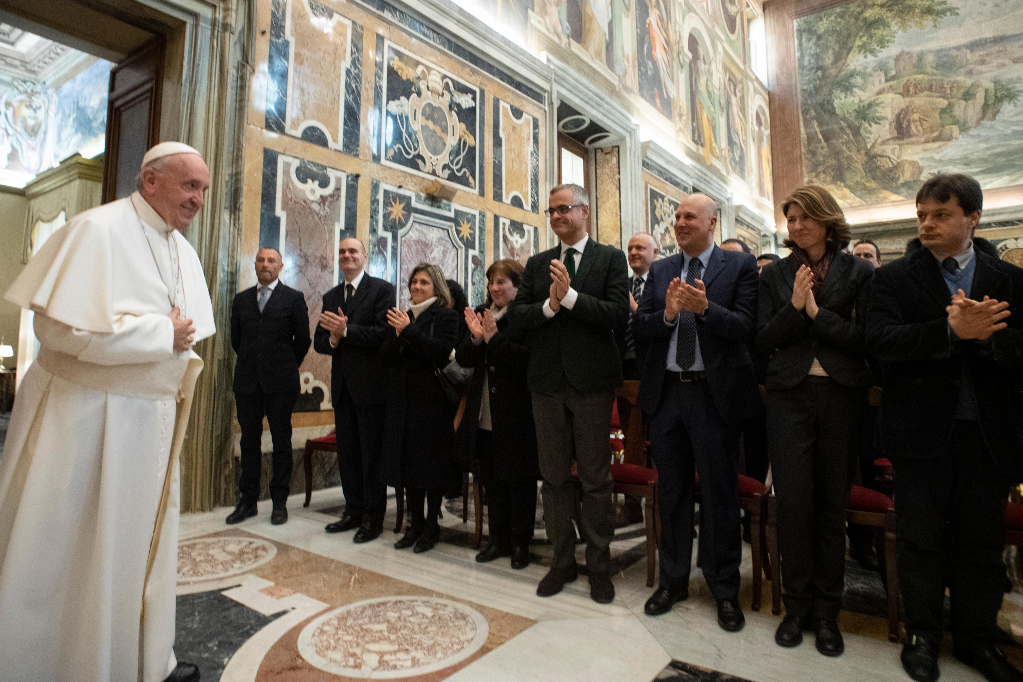 Audience aux Archives secrètes du Vatican © Vatican Media