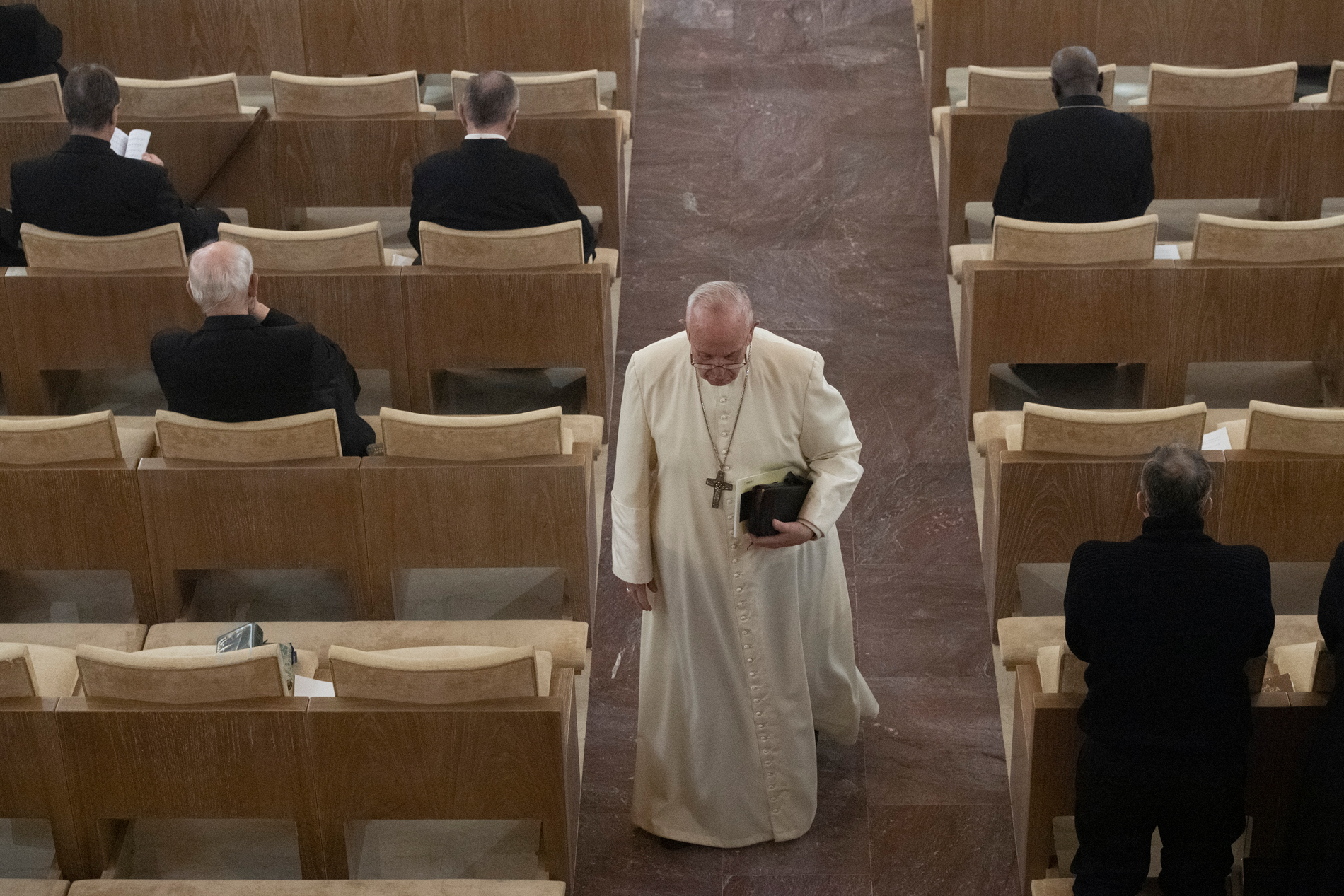 Retraite de carême 2019 de la Curie à Ariccia © Vatican Media