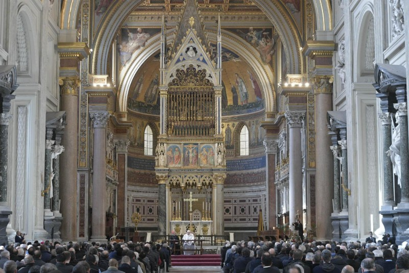 Rencontre du clergé de Rome © Vatican Media