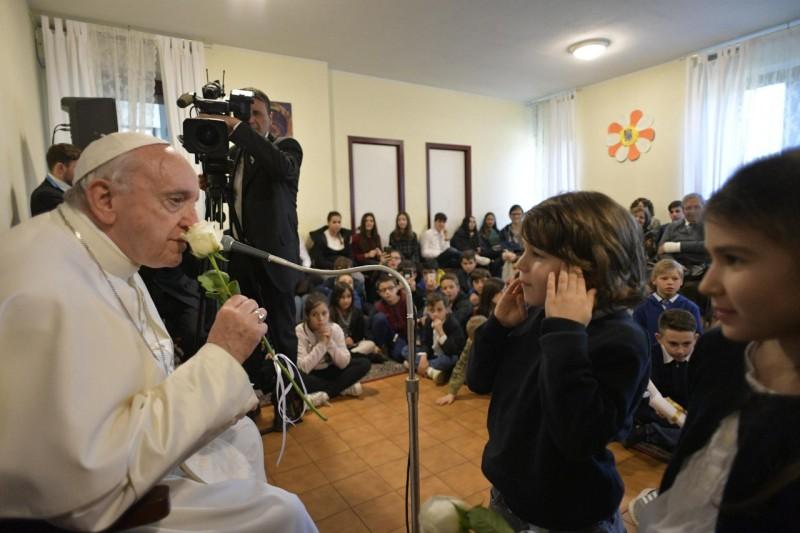 Visite à San Crispino 3/3/2019 © Vatican Media