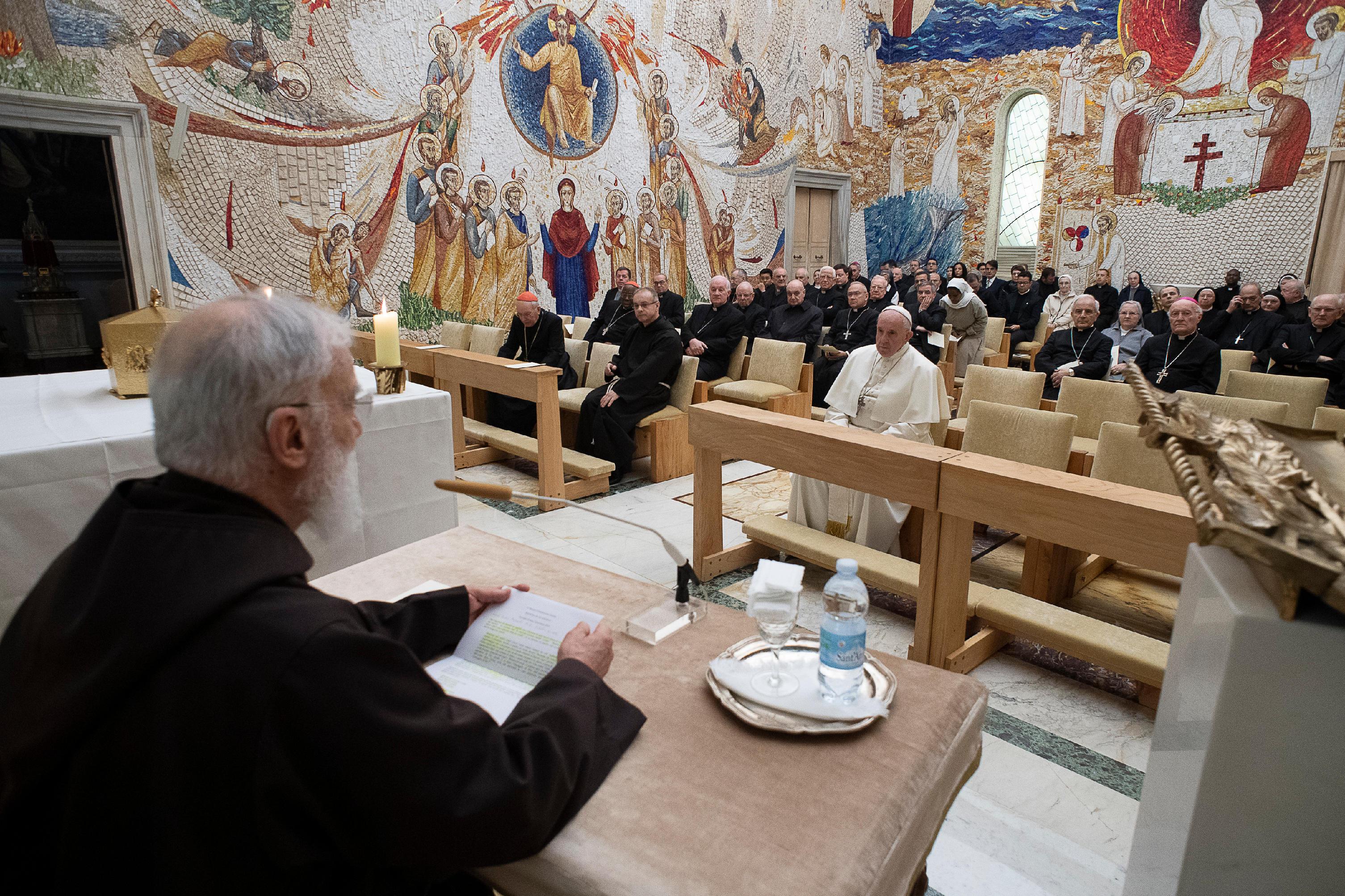 Prédication de carême du p. Cantalamessa, 2019 © Vatican Media