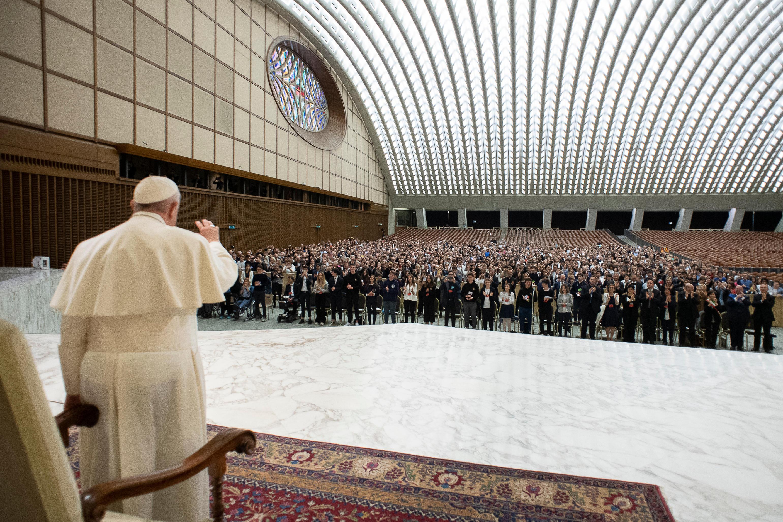 Jeunes du Collegio Barbarigo de Padoue © Vatican Media