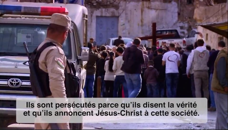 Capture vidéo du pape sur les chrétiens persécutés
