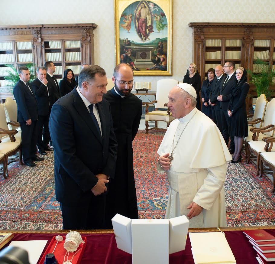 Milorad Dodik, président de la Présidence collégiale de la Bosnie-Herzégovine © Vatican Media