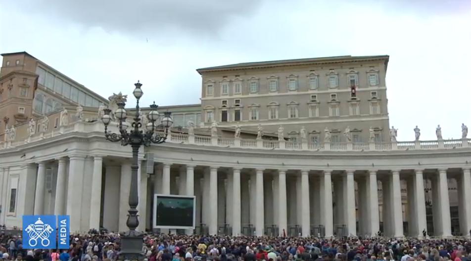 Regina Caeli du 28 avril 2019, capture Vatican Media