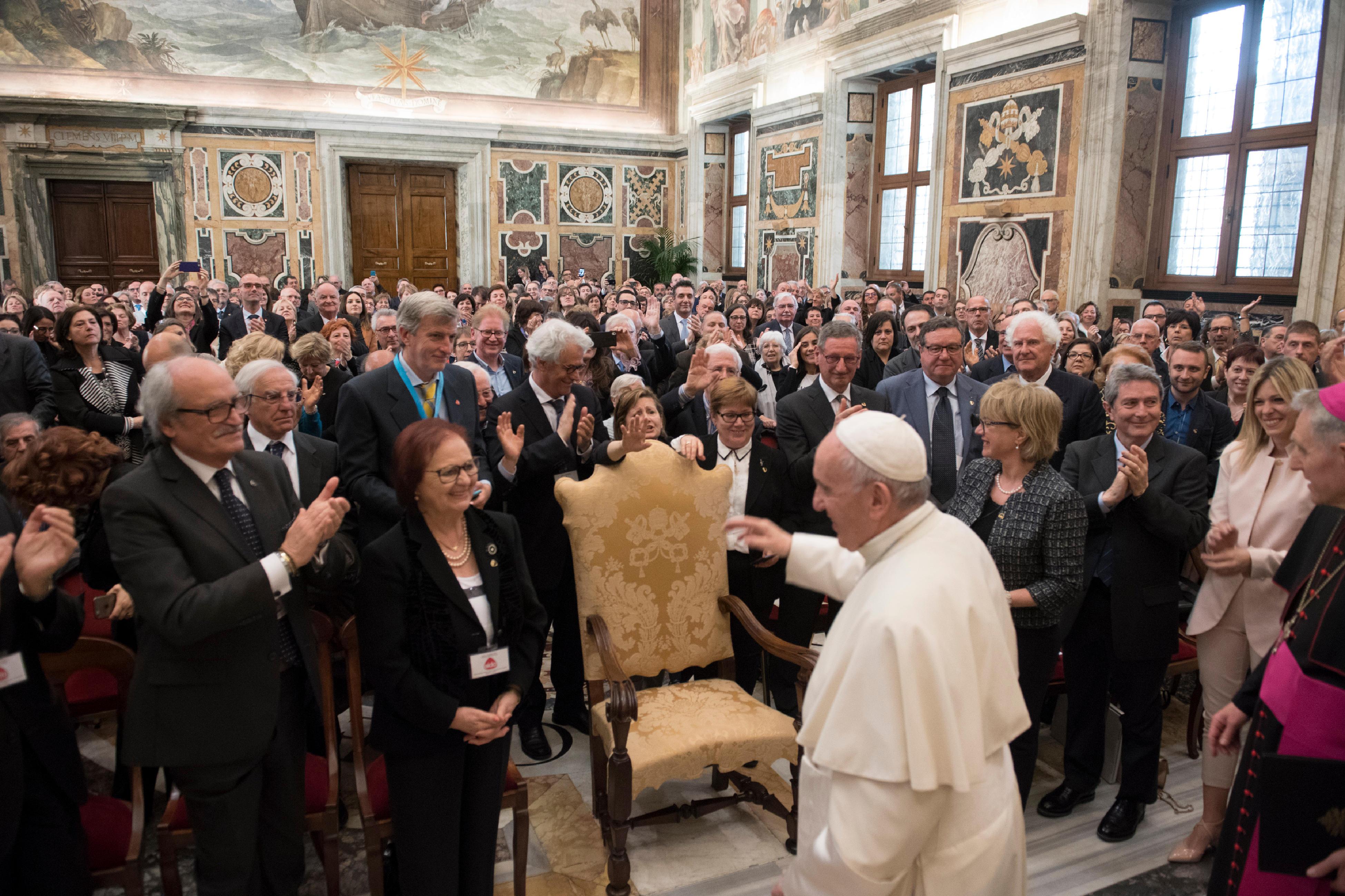 Association italienne pour le don d'organes de tissus et de cellules © Vatican Media