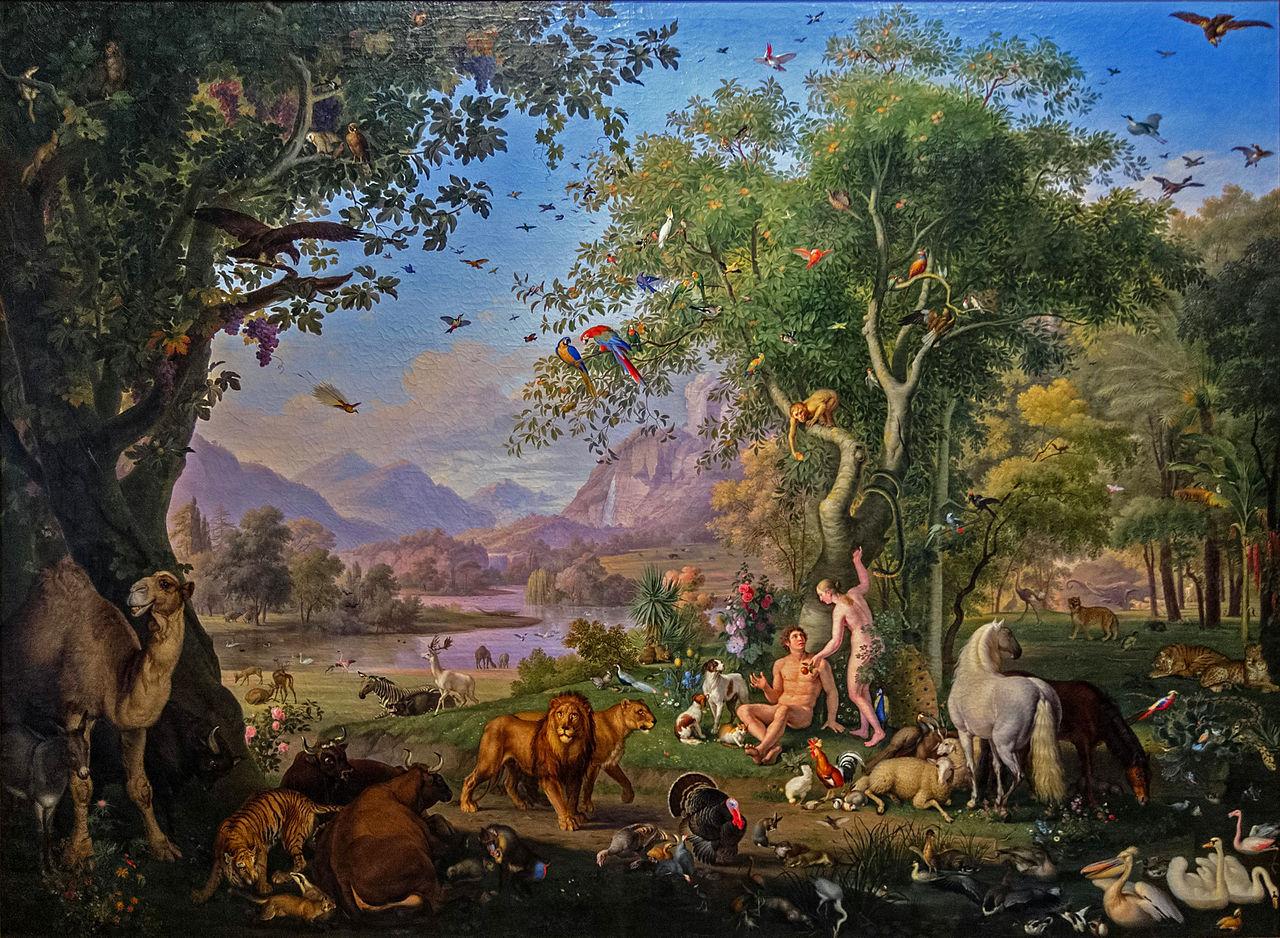 Adam et Ève au Paradis terrestre, par Peter Wanzel @Pinacothèque vaticane