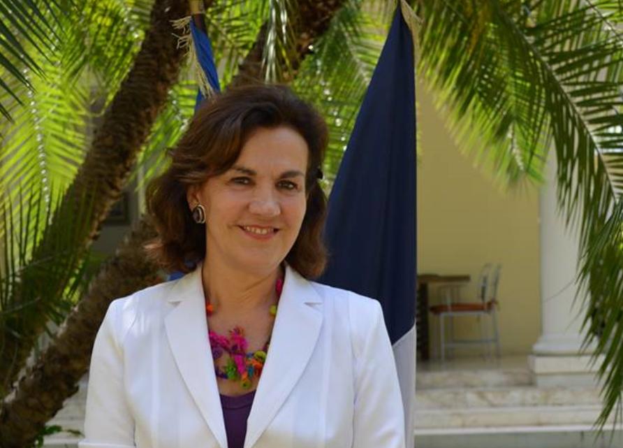 Elisabeth Beton-Delègue ambassadrice de France © FB Ambassade de France en Haïti