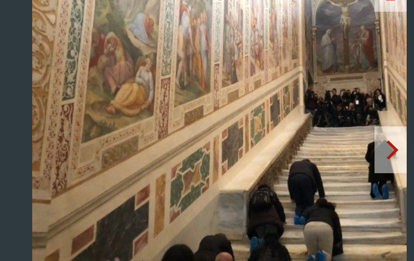 Escalier Saint de Rome © Vatican News