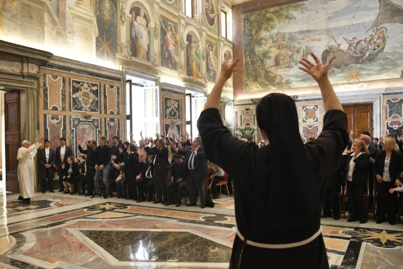 Association italienne des sourds © Vatican Media