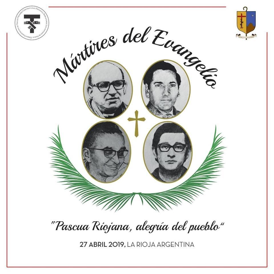 Les martyrs de La Rioja, Mgr Angelelli, Wenceslao, les pp. Gabriel et Carlos, @ 27 avril 2019