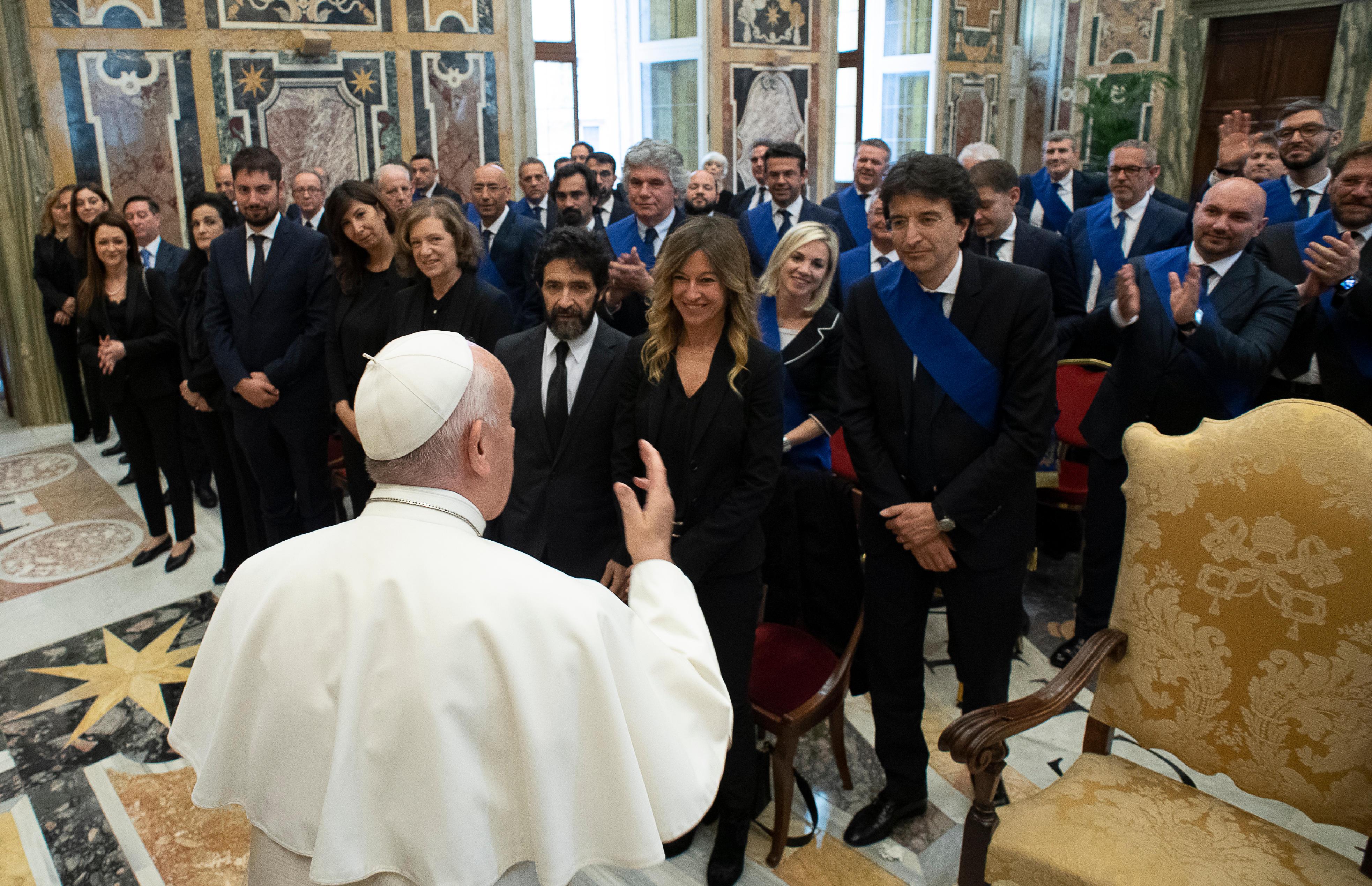 Présidents de l'Union des provinces d'Italie © Vatican Media