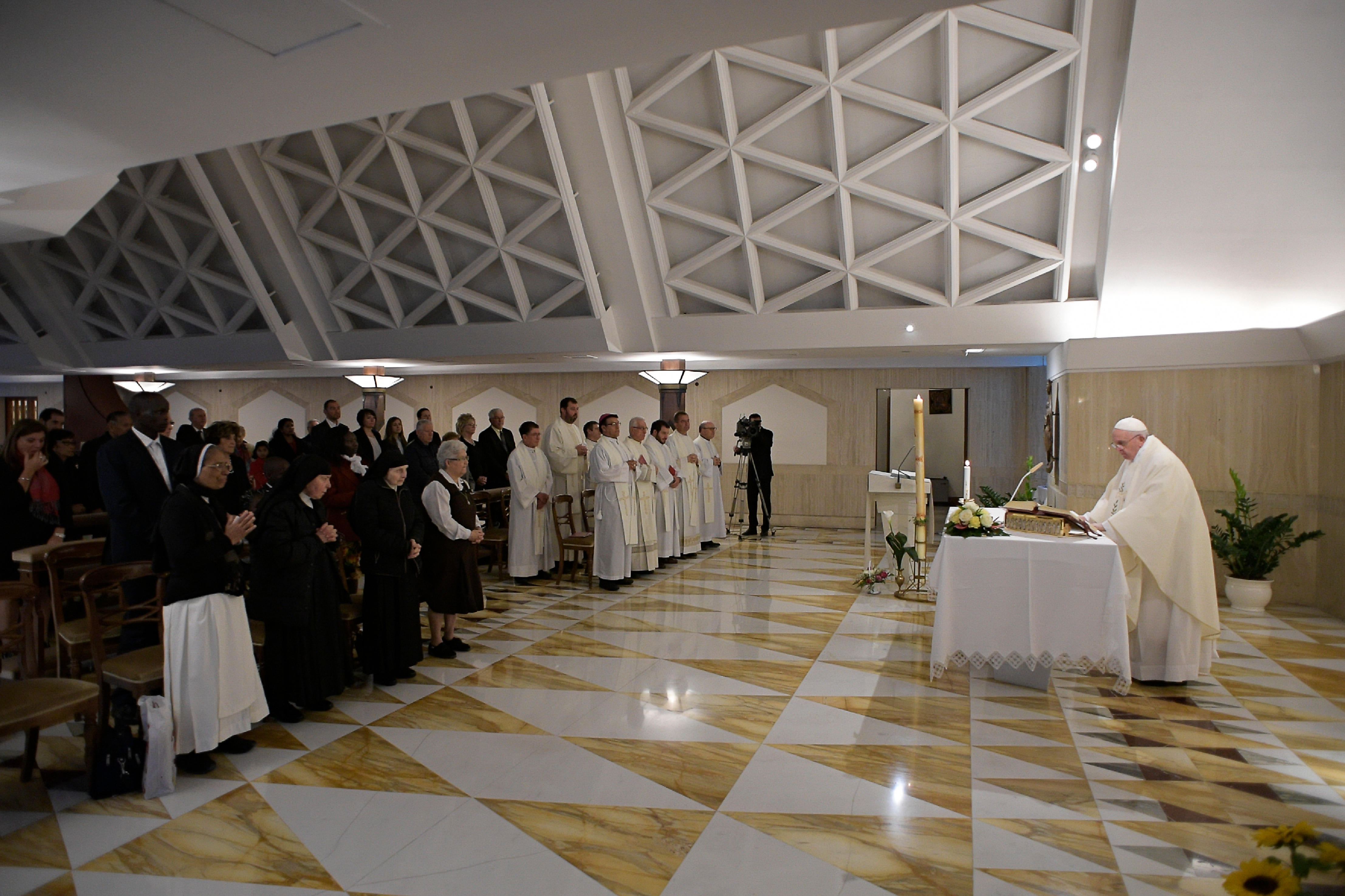 Messe à Sainte-Marthe, 30 avril 2019 © Vatican Media