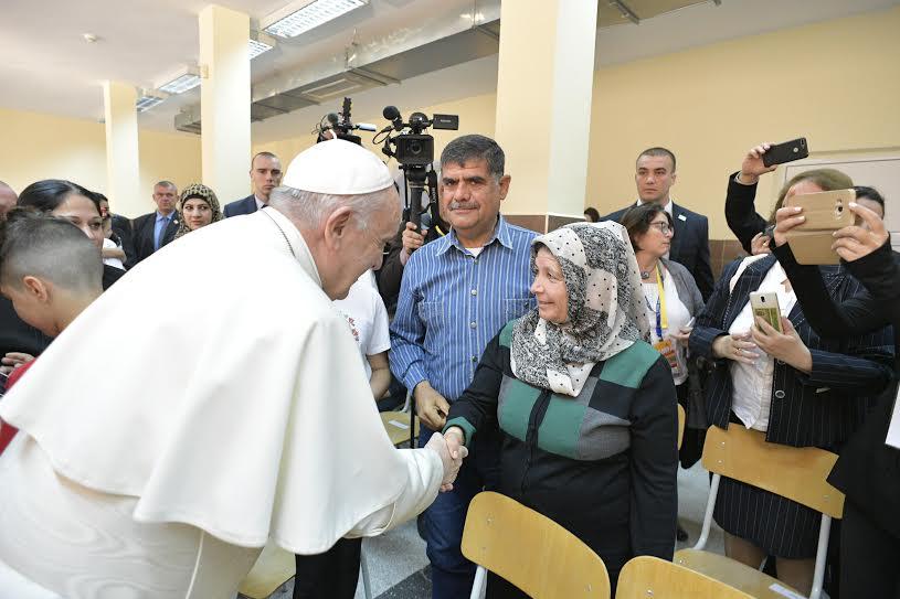Familles réfugiées, Centre Vrazhdebna, Sofia (Bulgarie), 6 mai 2019 © Vatican Media