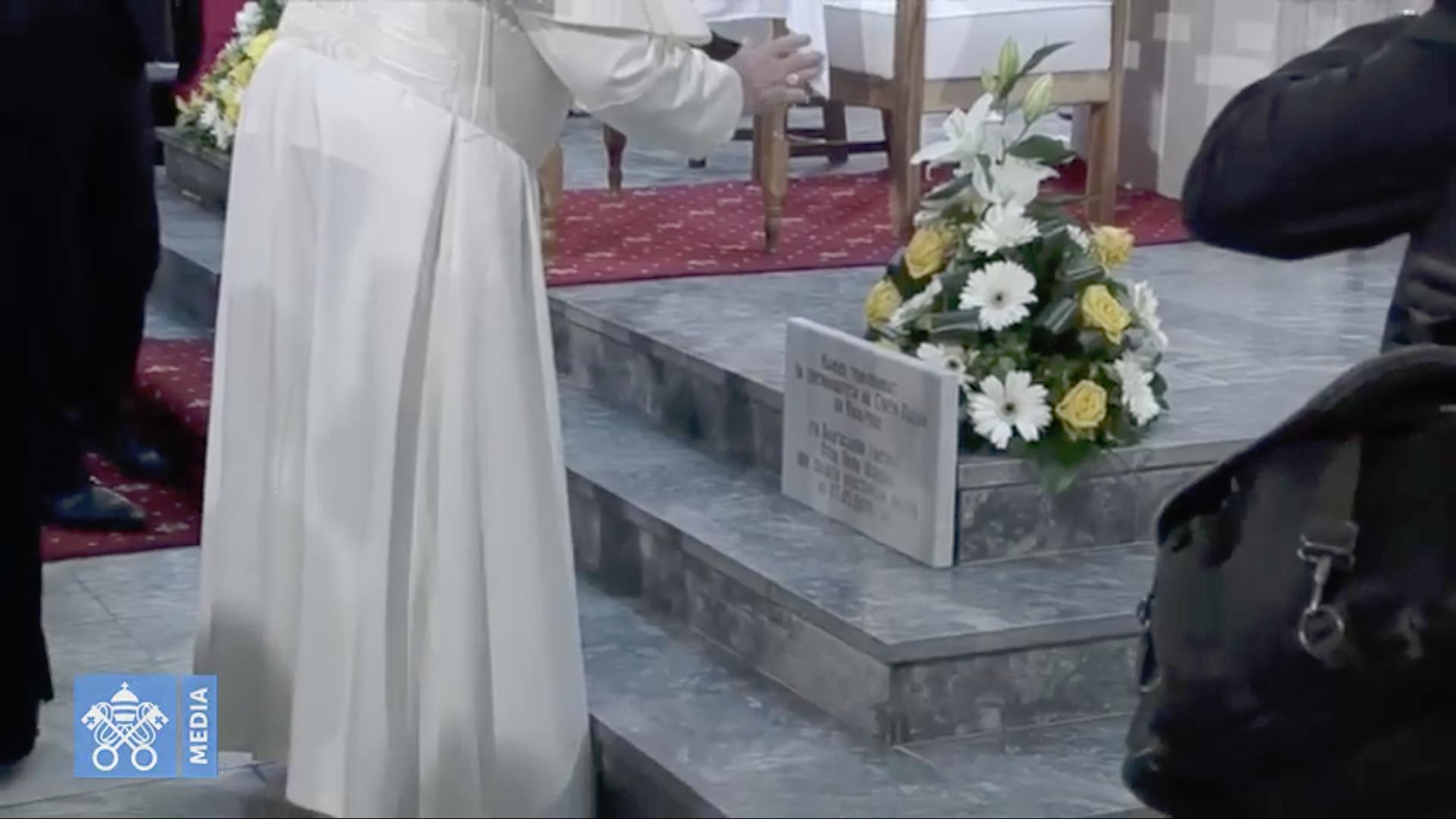 Bénédiction de la première pierre d'une nouvelle église, cathédrale de Skopje (Macédoine du Nord) @ Vatican Media