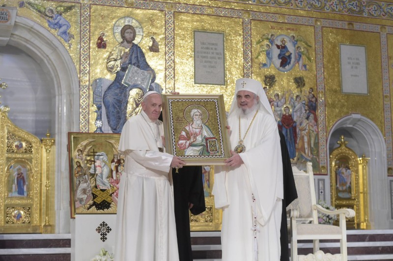 Patriarche Daniel, cathédrale orthodoxe de Bucarest, Roumanie © Vatican Media