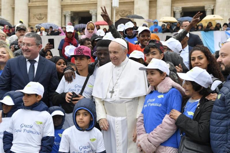 Enfants réfugiés, 15 mai 2019 © Vatican Media