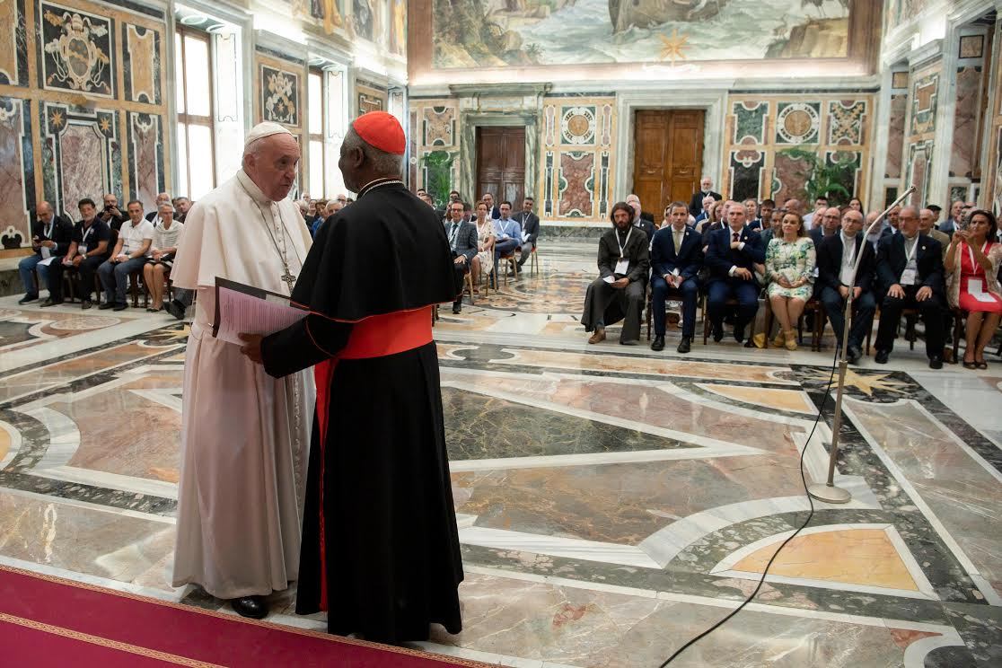 Apostolat de la Mer avec le card. Turkson © Vatican Media
