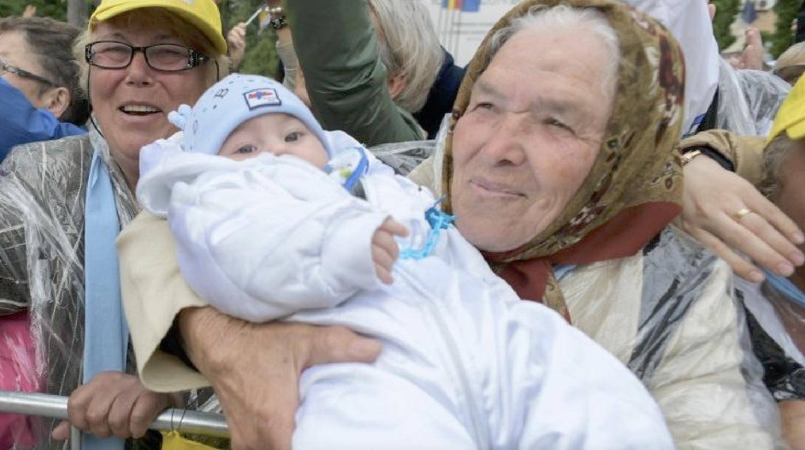 La grand-mère de Iasi © Vatican Media