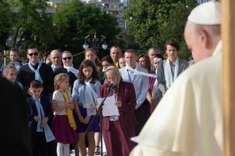 Iasi, Roumanie, rencontre avec les jeunes et les familles © Vatican Media