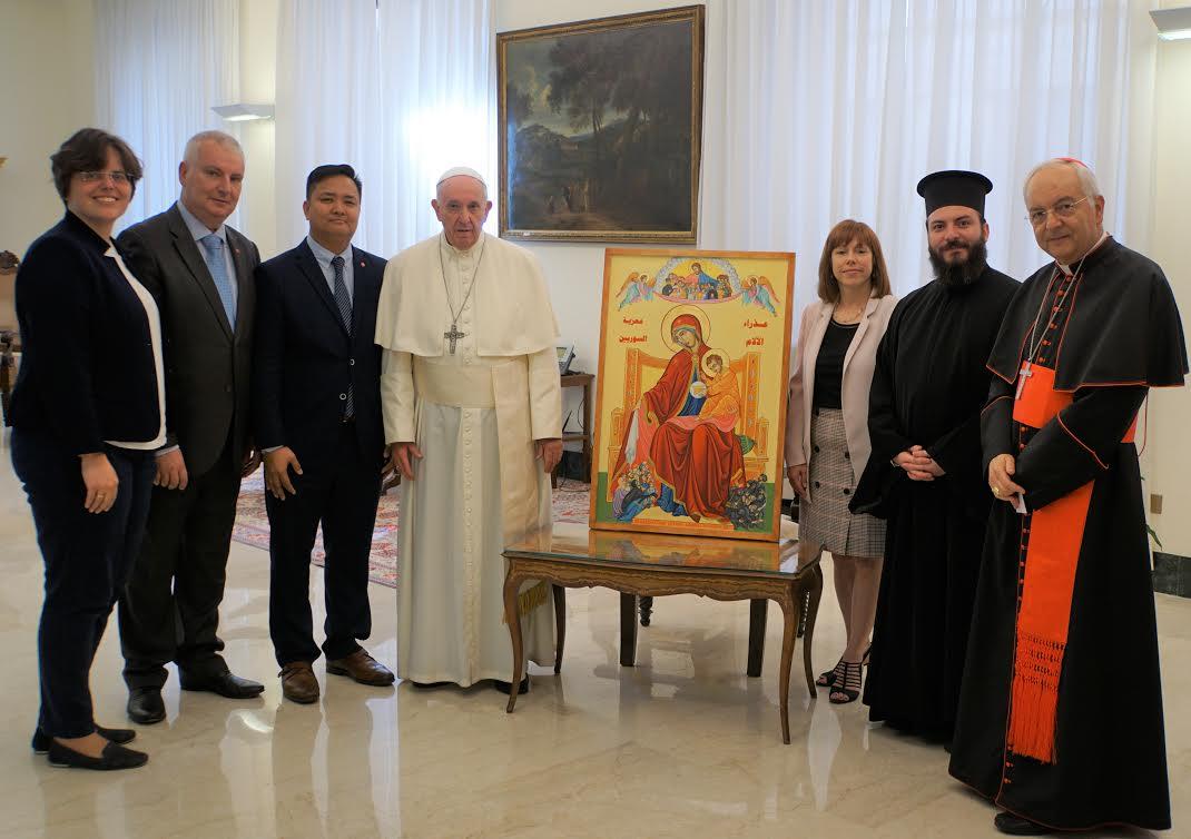 Icône bénie par le Pape François