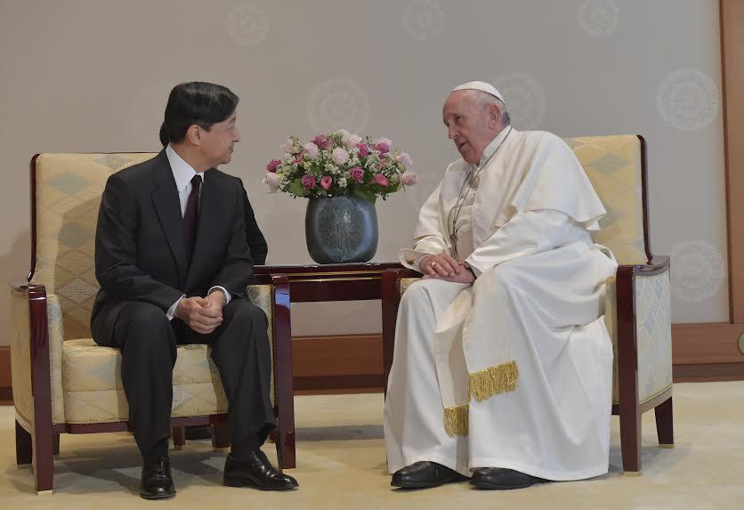 Visite privée à l'empereur Naruhito, palais impérial, Tokyo, Japon © Vatican Media