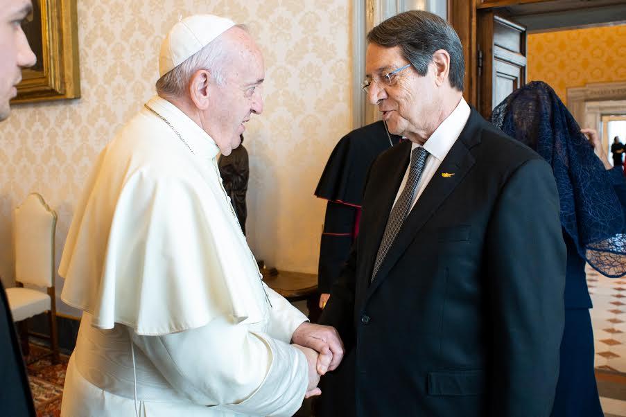 Visite du président de Chypre, Nicos Anastasiades © Vatican Media
