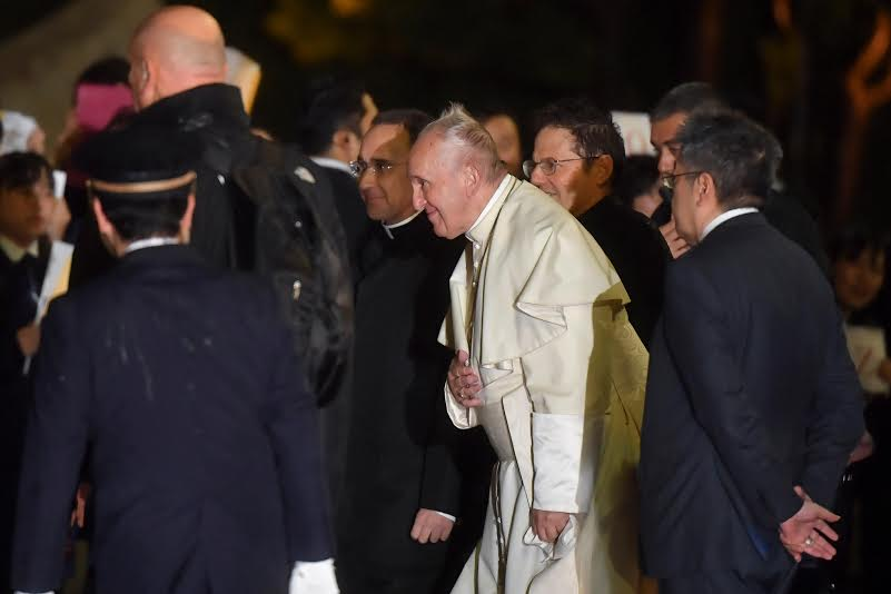 Arrivée à Tokyo, Japon, 23 novembre 2019 © Vatican Media