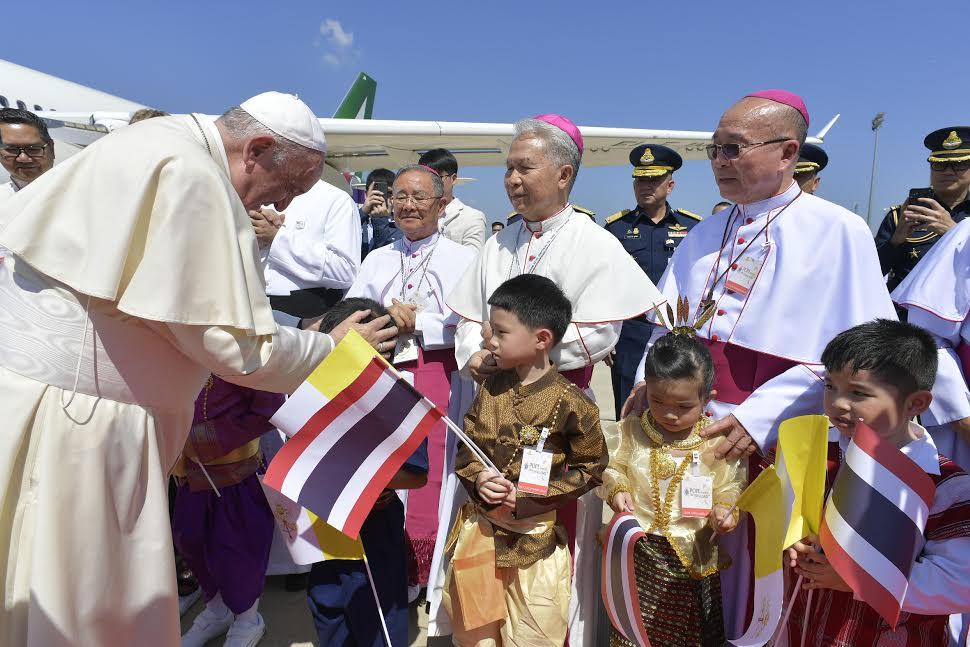 Arrivée à Bangkok, Thaïlande © Vatican Media