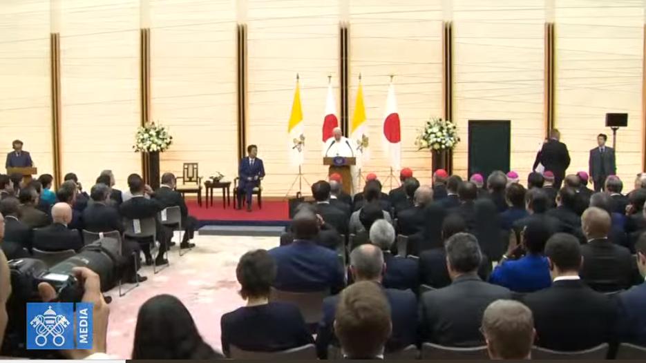 Rencontre avec les autorités du Japon © Vatican Media