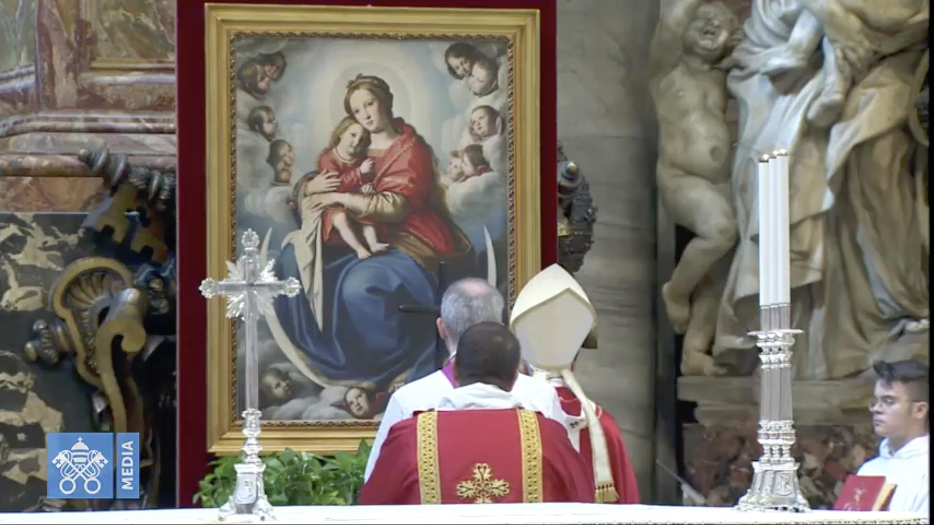 Messe pour les cardinaux et évêques défunts, capture @Vatican Media
