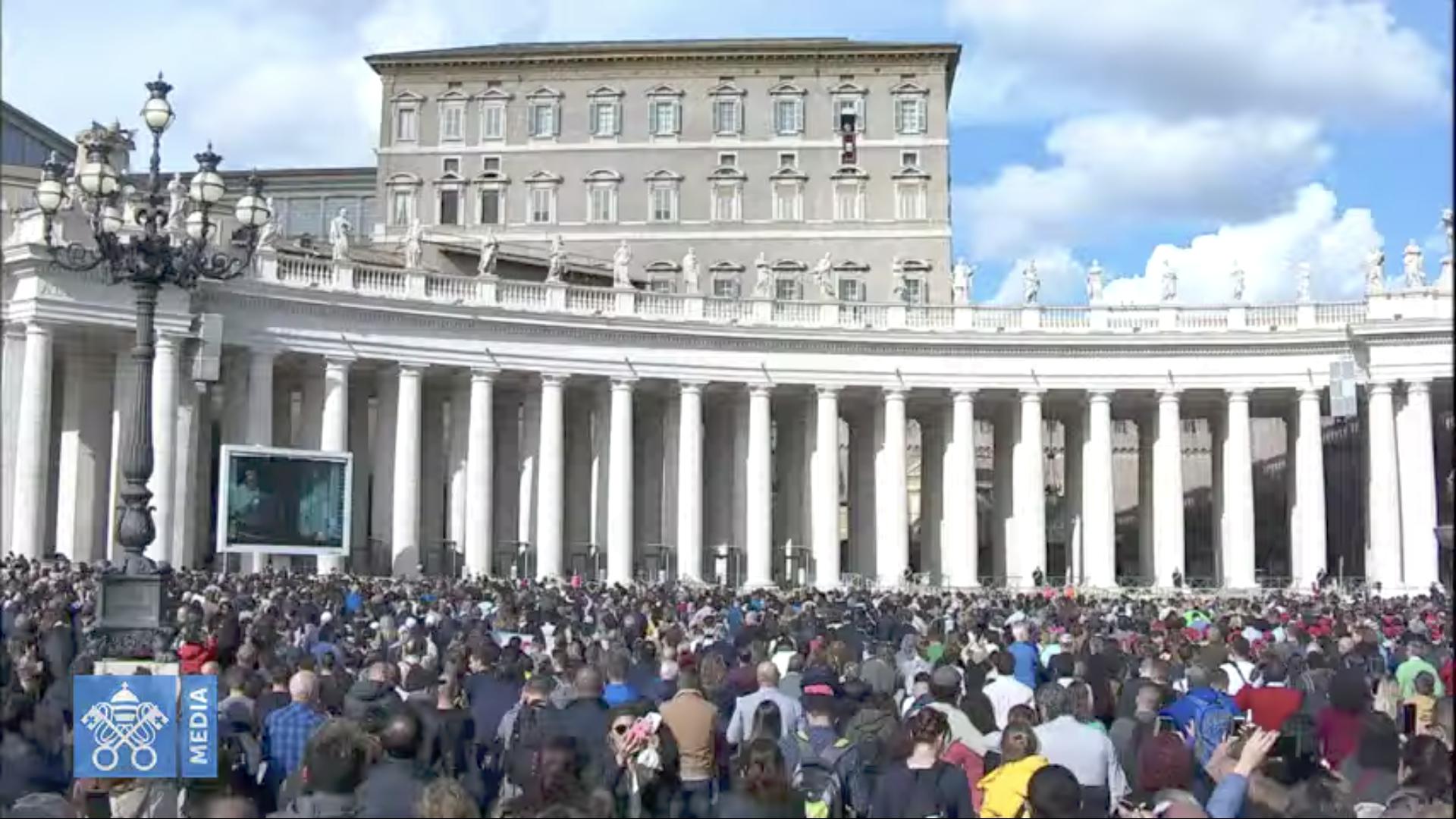 Angélus du 10 nov. 2019, capture @ Vatican Media