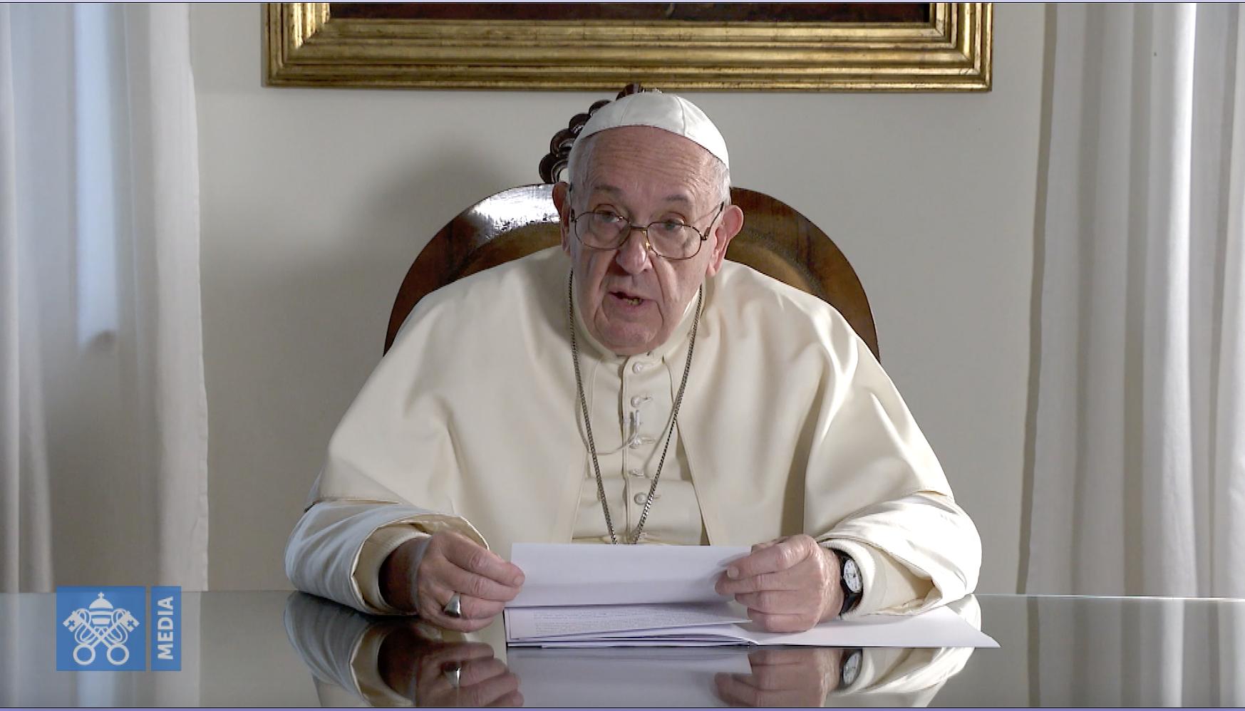 Message à la Thaïlande, capture @ Vatican Media